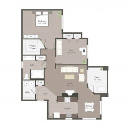 Bell Meadowmont 1 Bedroom with Den